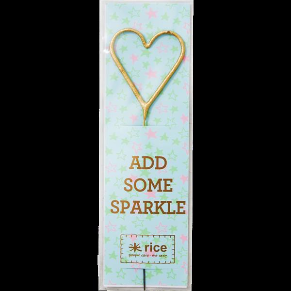 Stjernekaster fra Rice - Golden Sparkle - Hjerte