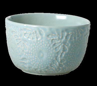 Image of Skål fra RICE- Keramik - Blomsterpræget - Mint (CEBWL-EMXC_Mint)