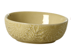 Image of Dip skål fra RICE- Keramik - Blomsterpræget - Spicy Yellow (CEDBW-EMXC_gul)