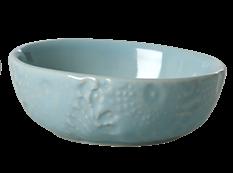 Image of Dip skål fra RICE- Keramik - Blomsterpræget - Mint (CEDBW-EMXC_mint)