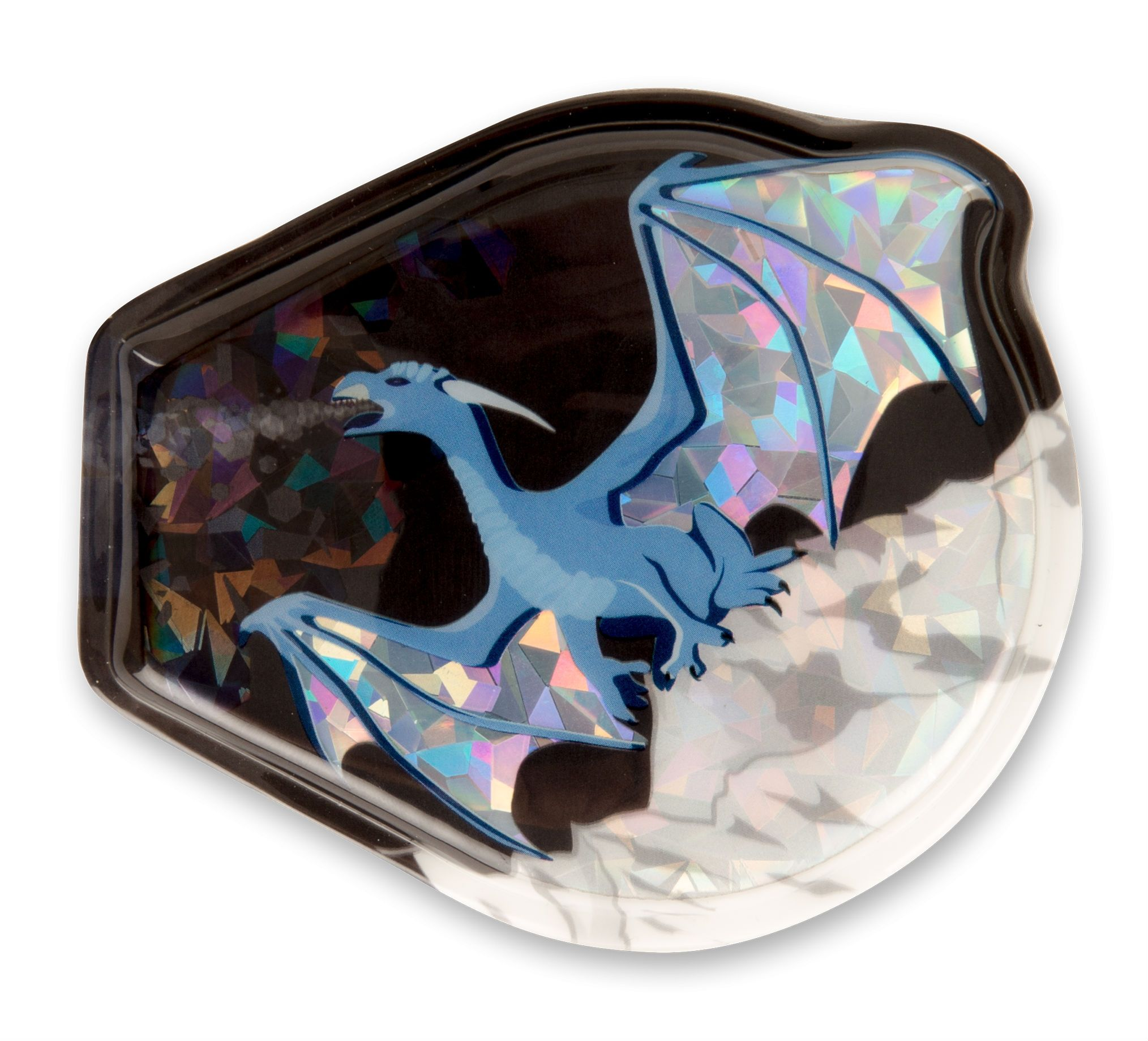 Image of Glimmer badge til Ergobag - Twinkle-Klettie - Ice Dragon (kle-cus-001-047)