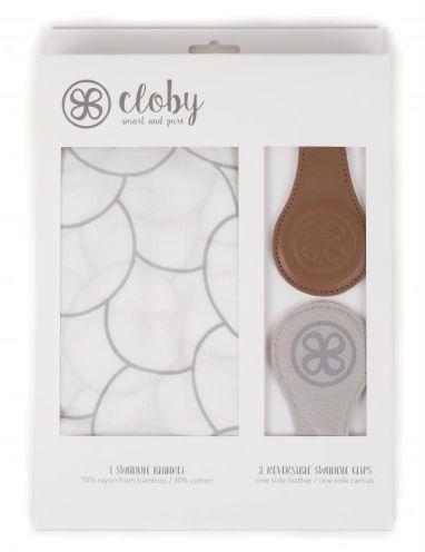 Svøb og magnetiske universal clips fra Cloby - Brown (3-pak)