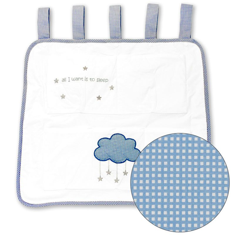 Bliss Tremmeseng opbevaring - bliss fine embrodery - cloud dreams fra babygear.dk