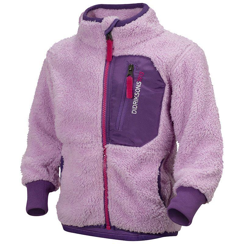 Teddy fleece jakke fra didriksons - cruz - lys lilla fra Didriksons på babygear.dk