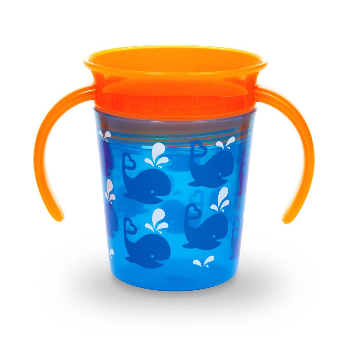 Image of   Drikketræner fra Munchkin - Spildfri - Miracle 360Trainer Cup - Whales