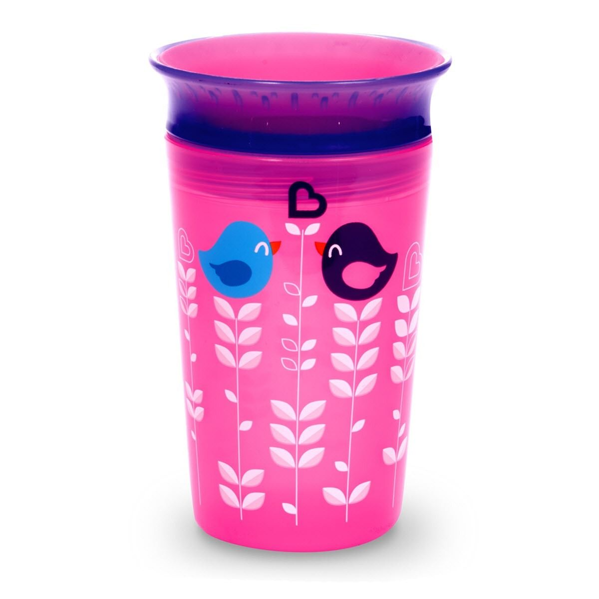 Image of   Drikketræner fra Munchkin -Spildfri Miracle 360 Sippy Cup- Pink Birdy