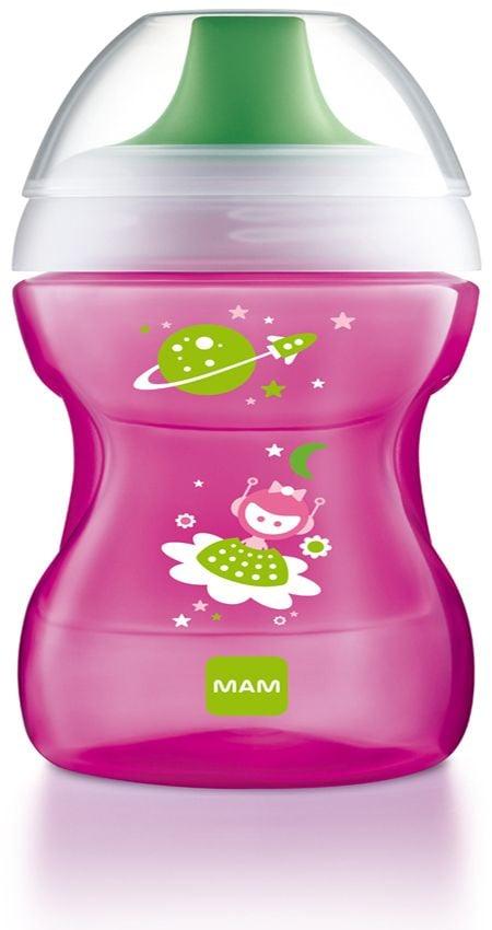 Drikkekop fra mam - fun to drink cup (8m+) - fuchsia fra Mam på babygear.dk