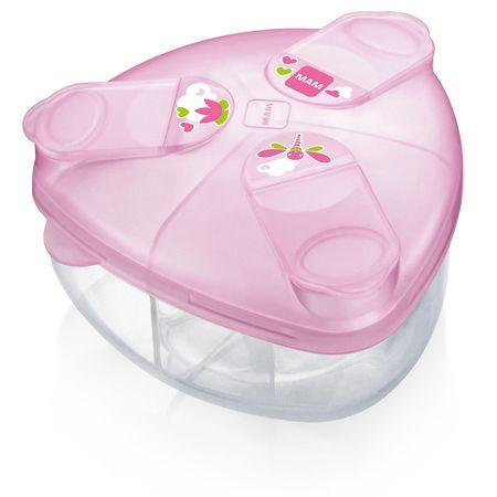 Image of Mælkepulverdispenser m. rum fra MAM - Pink (MAM-ACC06_PINK)