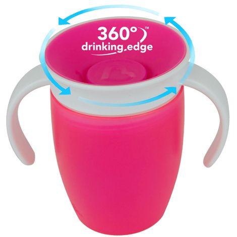 Image of   Drikketræner fra Munchkin - Spildfri - Miracle 360Trainer Cup - Pink