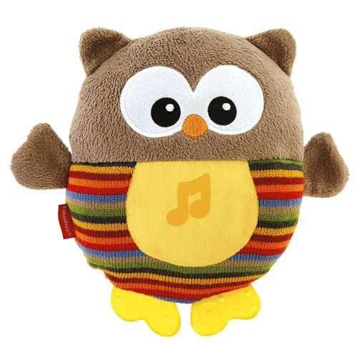 Image of Vågelampe m. lyd fra Fisher-Price - Soothe & Glow Owl - Brun (FP-TOY04)