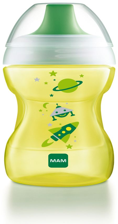 Image of   Drikkekop fra MAM - Fun to Drink Cup (8m+) - Lemon