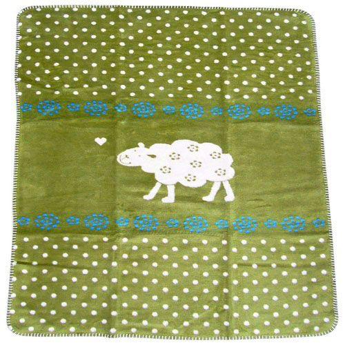 Tæppe fra Fussenegger (ekstra blødt og stort) - Sheepy (grøn)