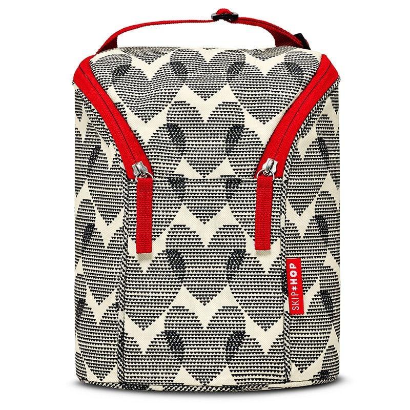 Image of   Double Bottle Bag fra Skip Hop - m. køleelement - Hearts
