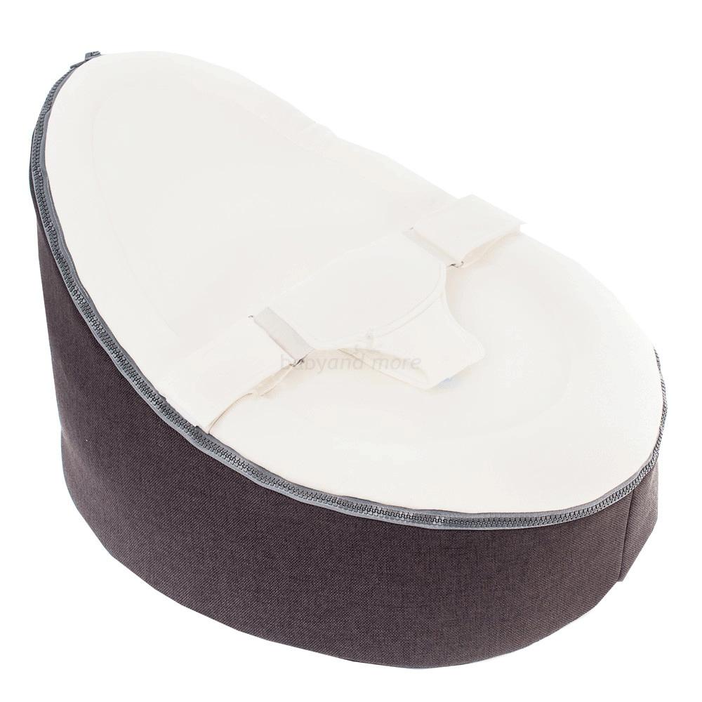 Image of Doomoo Seat - Skråstol / Sækkestol (0-30 kg) - Grey (5400653999600)