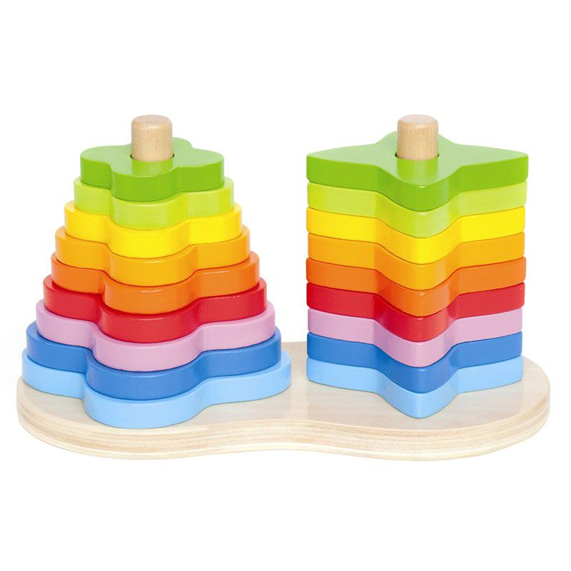 Image of Double Rainbow Stacker fra Hape (6943478002531)