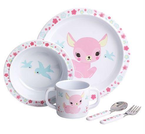 Image of   Spisesæt fra A Little Lovely Company i gaveæske - Deer