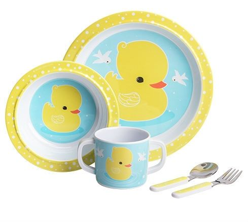 Image of   Spisesæt fra A Little Lovely Company i gaveæske - Duck