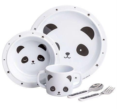 Billede af Spisesæt fra A Little Lovely Company i gaveæske - Panda