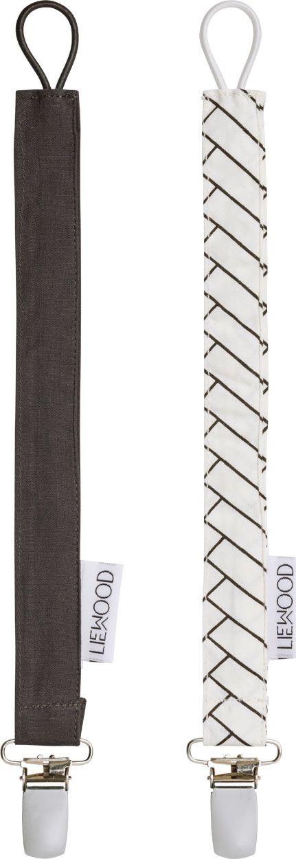 Image of   Suttekæde fra Liewood - Ea - Herringbone/Dark Grey (2 stk)