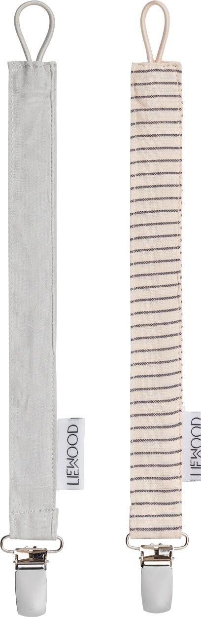 Image of   Suttekæde fra Liewood - Ea - Dumbo Grey / Sweet RoseStripes (2 stk)
