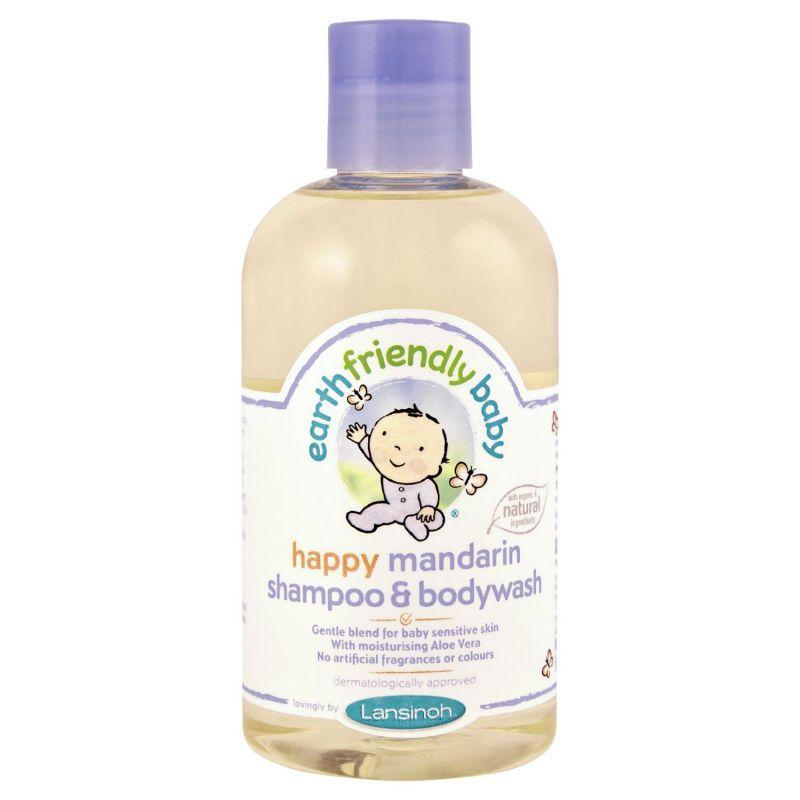 Lansinoh Shampoo og bodywash fra earth friendly baby - mandarin på babygear.dk
