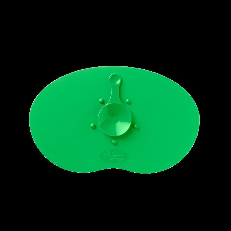 Magic mat underlag m. sugekop fra tommee tippee - grøn fra Tommee tippee fra babygear.dk