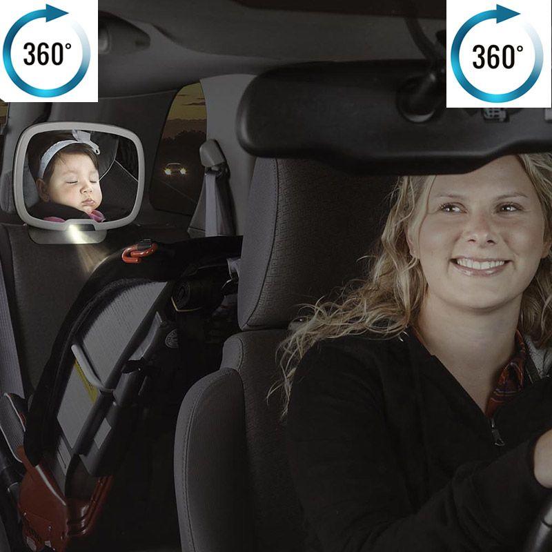 Image of Bagsædespejl fra Diono - Bagudvendt autostol - Natlys - Easy View+ (0677726603404)