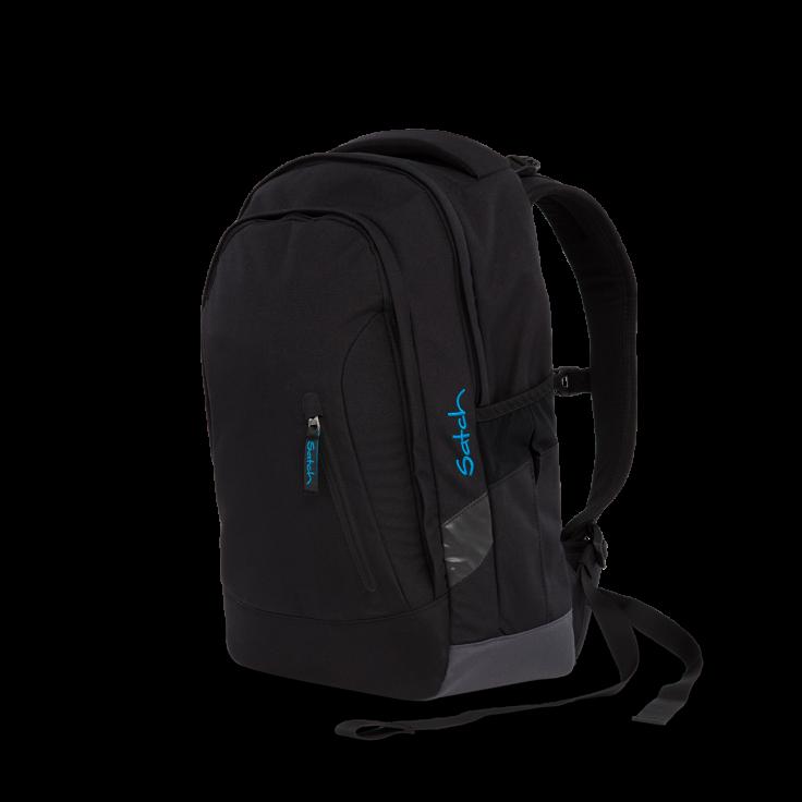 Satch Skoletaske rygsæk - satch sleek - black bounce (24l) fra babygear.dk