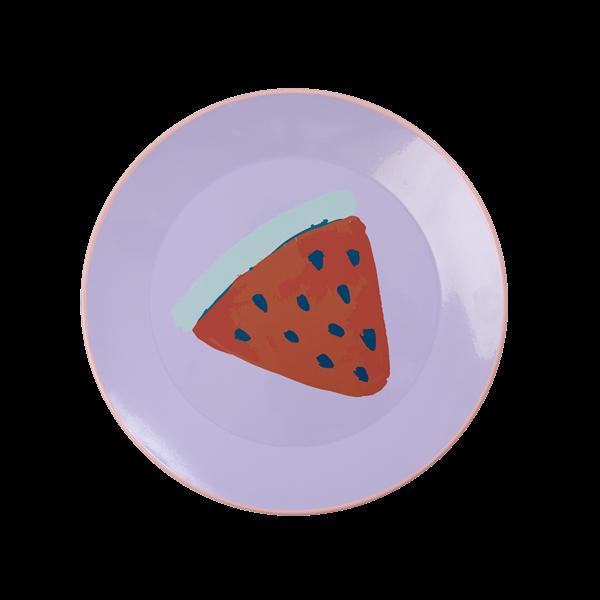 Emaljetallerken fra Rice - Lavender Watermelon Print