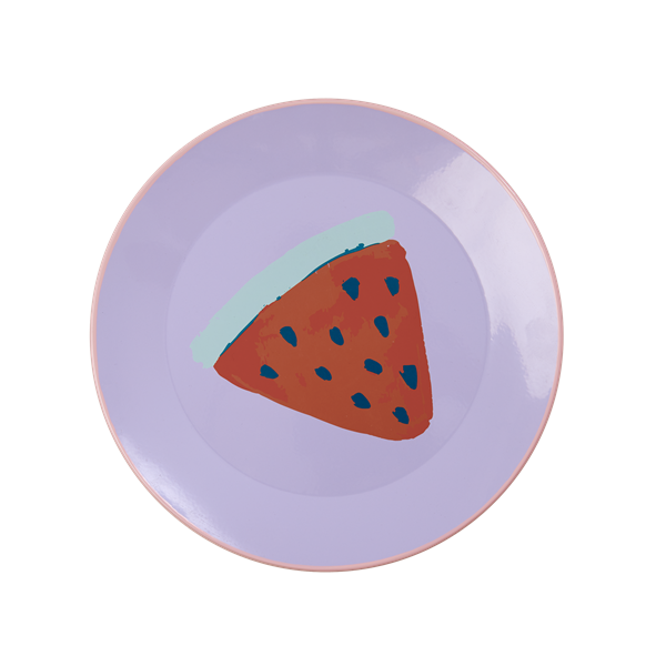 Image of Emaljetallerken fra Rice - Lavender Watermelon Print (ENLPL-LA)