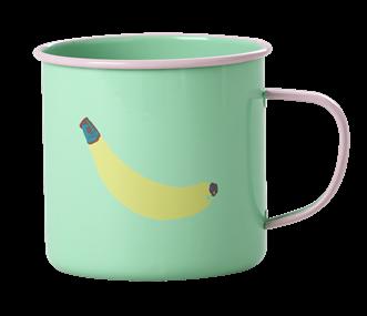 Image of   Emalje krus fra RICE - Pastel Green Banana Print