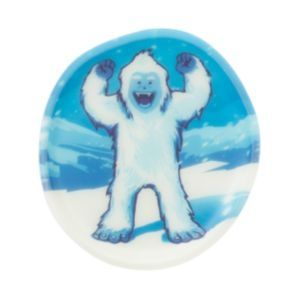 Image of Badge til Ergobag skoletaske - Glow in the Dark Kletties - Yeti (KLE-CUS-001-56)