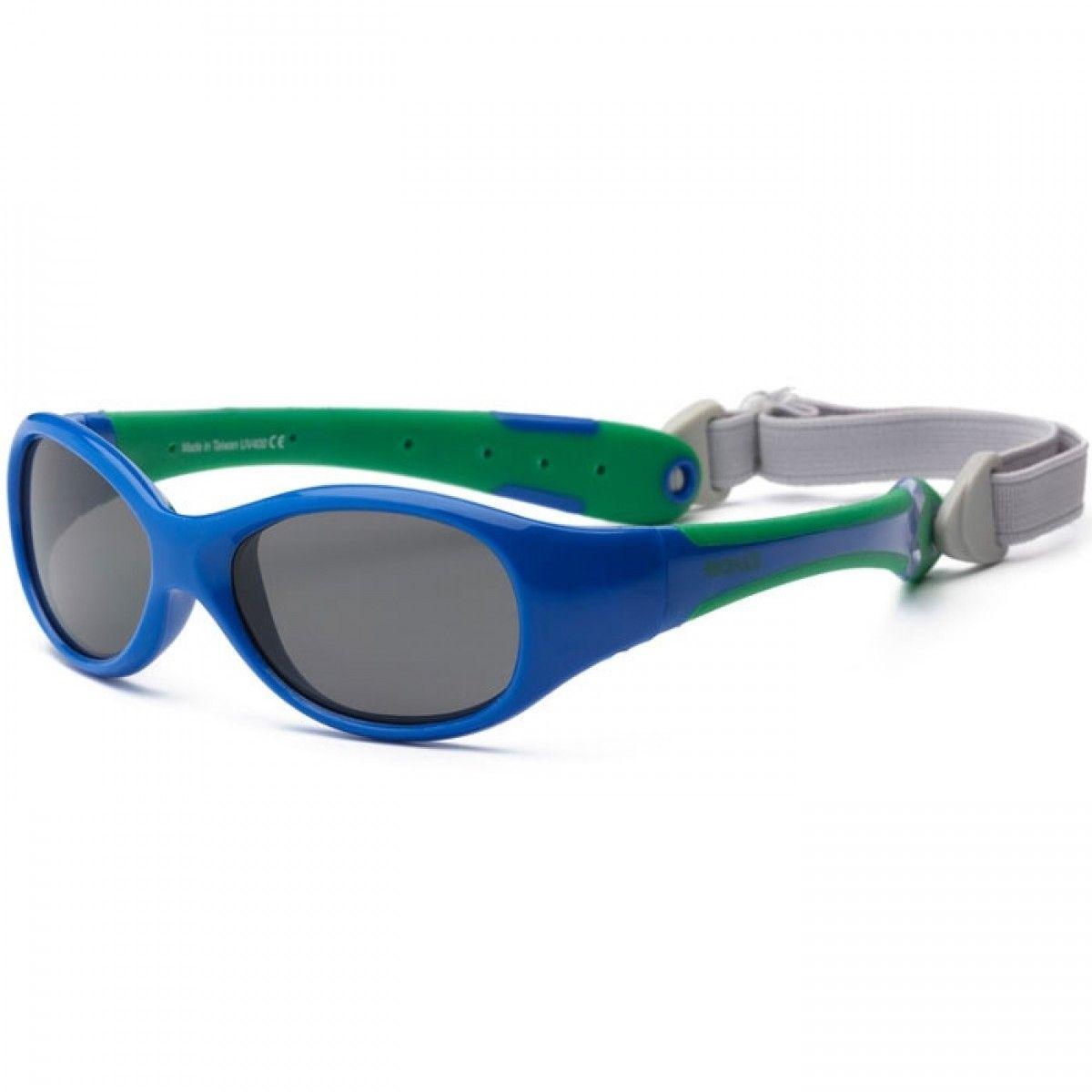Solbriller fra real shades - explorer - blå fra Real kids shades fra babygear.dk