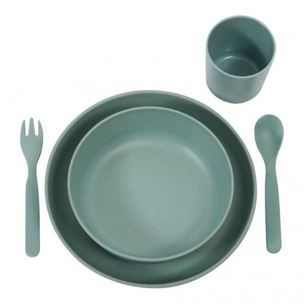 Image of   Spisesæt fra Filibabba - Bambus - Dark Mint