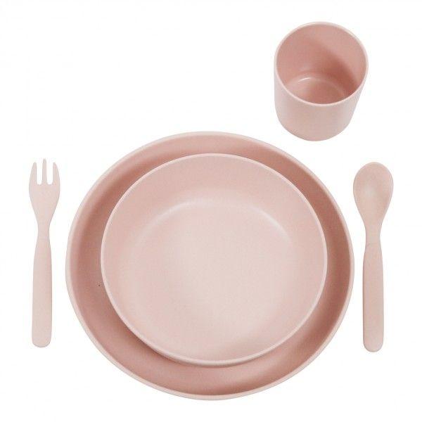 Billede af Spisesæt fra Filibabba - Bambus - Rose