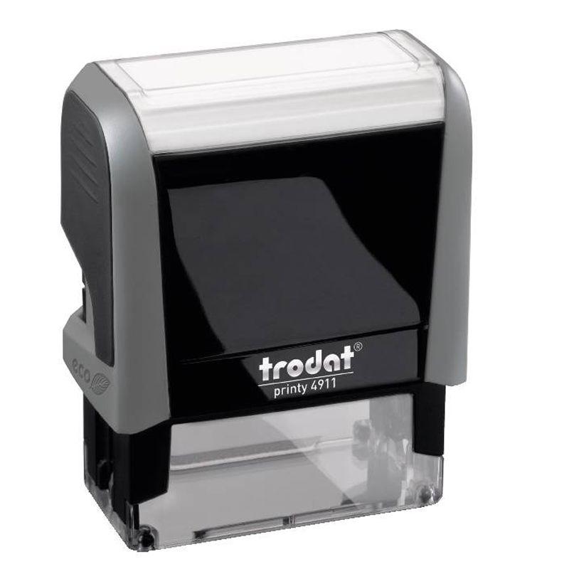 Image of Tøjstempel™ (Grå) - bestem selv teksten (092399444473)