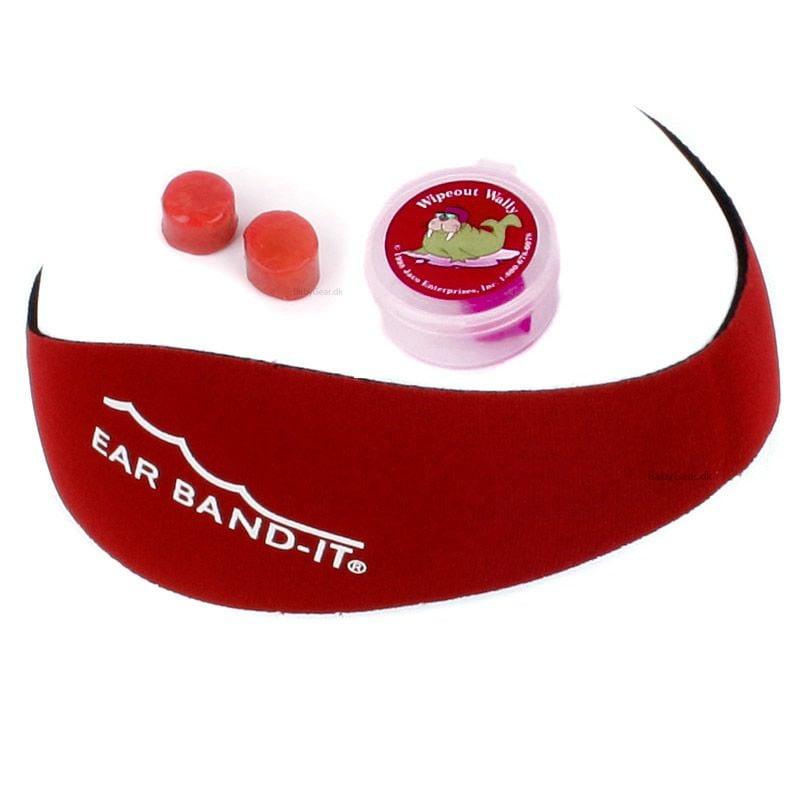 Ear band-it – Ear band-it kit - undgå vand i ørerne - rød på babygear.dk