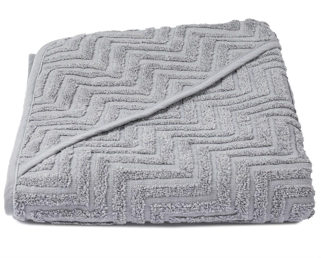 Image of Badeslag fra Filibabba - Økologisk - Zigzag - Grey (100x100) (FI-ZR003)