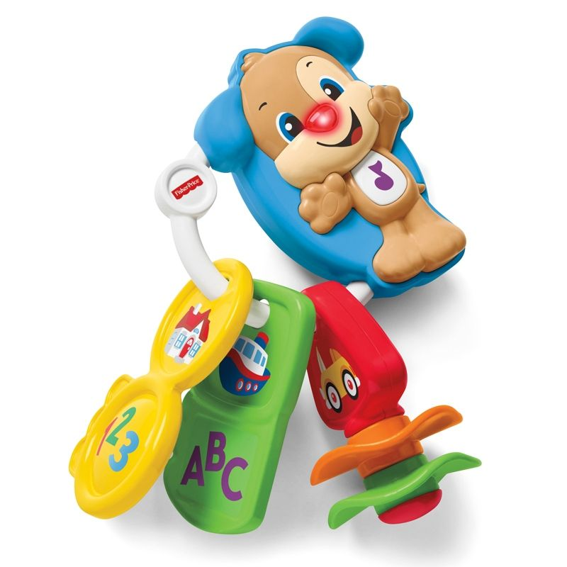 Image of   Nøgler m. lys og lyd fra Fisher-Price - Laugh and Learn Go Puppy Keys