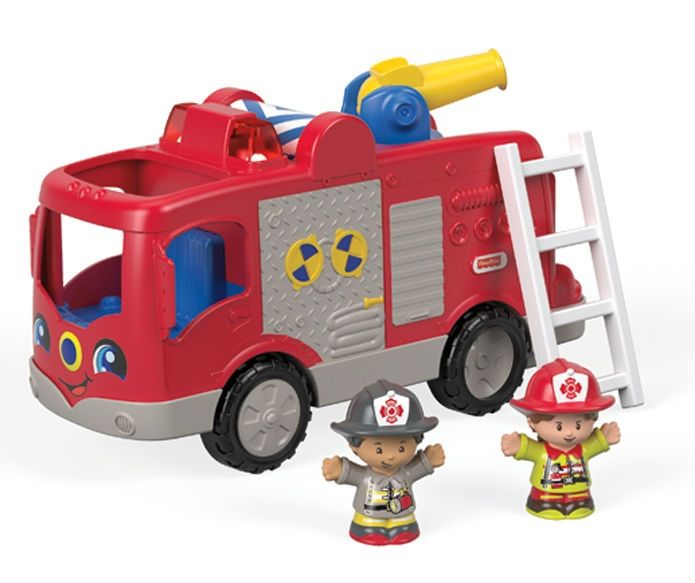 Image of   Brandbil m. lyd fra Fisher-Price - Little People Fire Truck