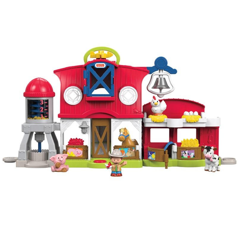 Image of   Bondegård fra Fisher-Price -m/lys og lyd- Little People Sensory Farm