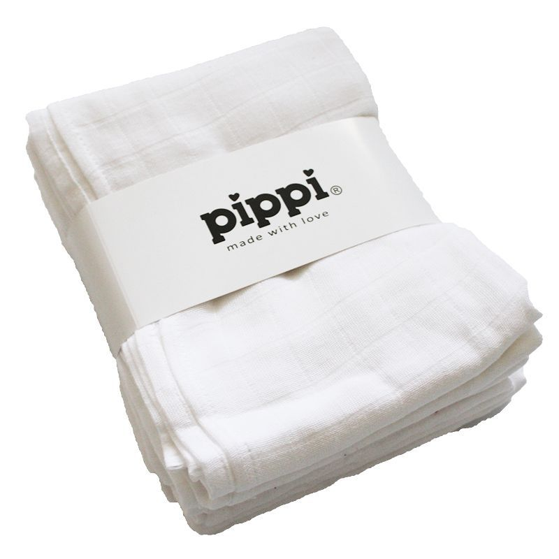 Image of   Stofbleer fra Pippi - Hvide (8 stk.)