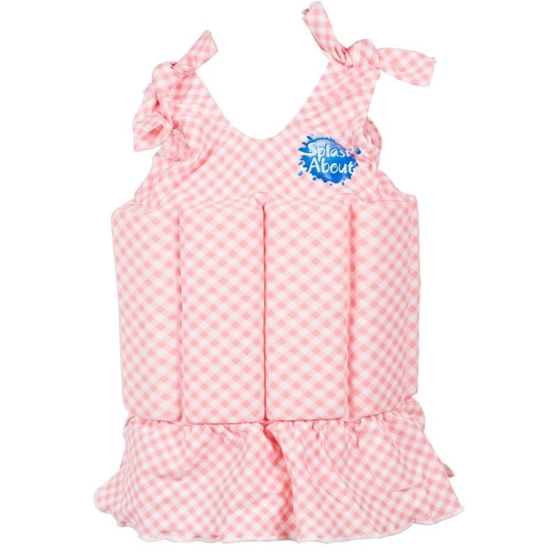 Image of   Badedragt m. opdrift fra Splash About - Floatsuit - Pink Gingham