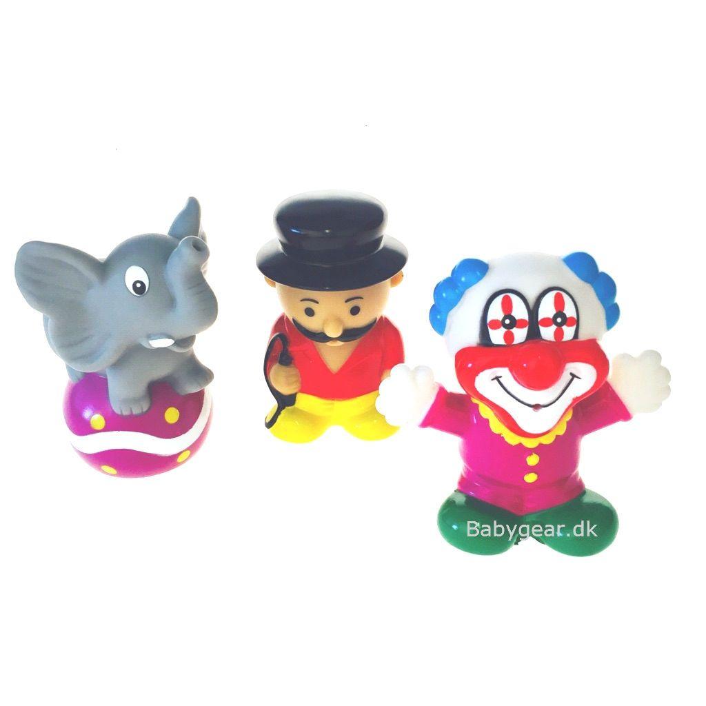 Badelegetøj fra Badskoj - Cirkus - Elefant, Klovn og Sprechstallmeister