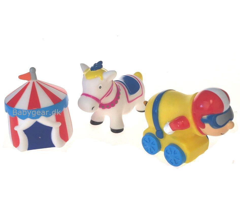 Badelegetøj fra Badskoj - Cirkus - Hest, Telt og Kanonkonge