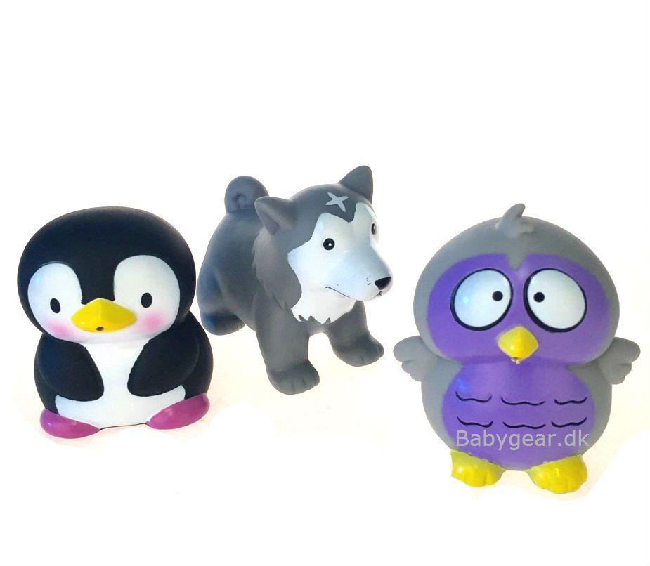 Badelegetøj fra Badskoj - Polardyr - Ugle, Ulv, Pingvin