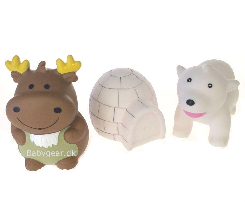 Badelegetøj fra Badskoj - Polardyr - Isbjørn, Iglo og Rensdyr