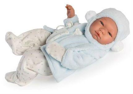 Image of Babydukke fra Así - Hård krop og sut - Pablo m. vinterfrakke (43 cm) (24364531)