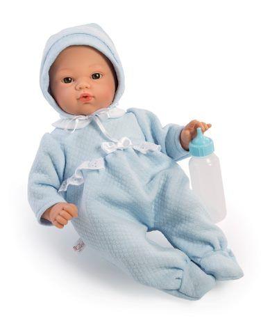 Image of Babydukke fra Así - Blød krop og sutteflaske - Koke dreng (36 cm) (24404541)