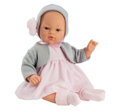 Image of Babydukke fra Así - Blød krop - Koke pige i sommerkjole (36 cm) (24404310)